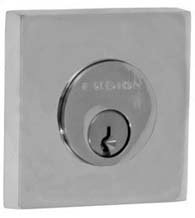 Contemporary Solid Brass Square Deadbolt, Fusion S7