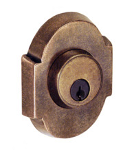 Small Scalloped Sandcast Bronze Deadbolt, Fusion A3