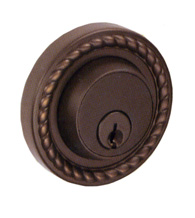 Wellington Rope Rose Deadbolt, Fusion B8