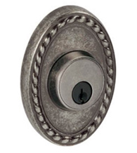 Oval Rope Rose Deadbolt, Fusion B9