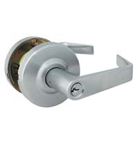 Grade 2 Brushed Chrome Commercial Keyed Entry Door Lever, Global GAL-1151L-R-626