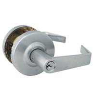 Grade 2 Brushed Chrome Commercial Storeroom Door Lever, Global GAL-1180-626