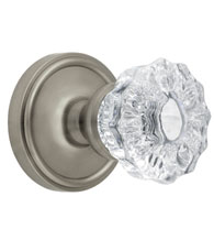 Georgetown Rosette With Crystal Fontainebleau Knob, Grandeur GEOFON