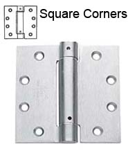 4-1/2 x 4-1/2 x Square Corners Commercial Spring Hinge