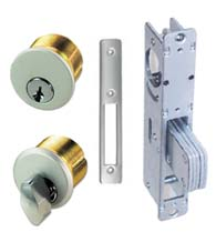 Storefront Door Mortise Deadbolt Lock Sets, Brass Cylinders, TH1101-PB