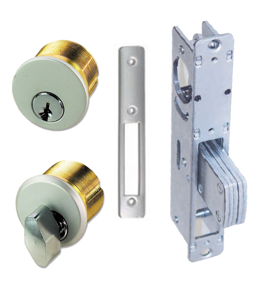 Storefront Door Mortise Deadbolt Lock Sets Brass
