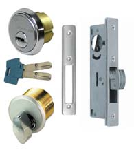 Sliding Store Front Door High Security Mortise Hookbolt Lockset, Mul-T-Lock Cylinders, TH1102-PM