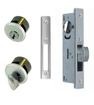 Sliding Storefront Door Mortise Deadbolt Lockset, Zinc Cylinders, TH1102-PZ