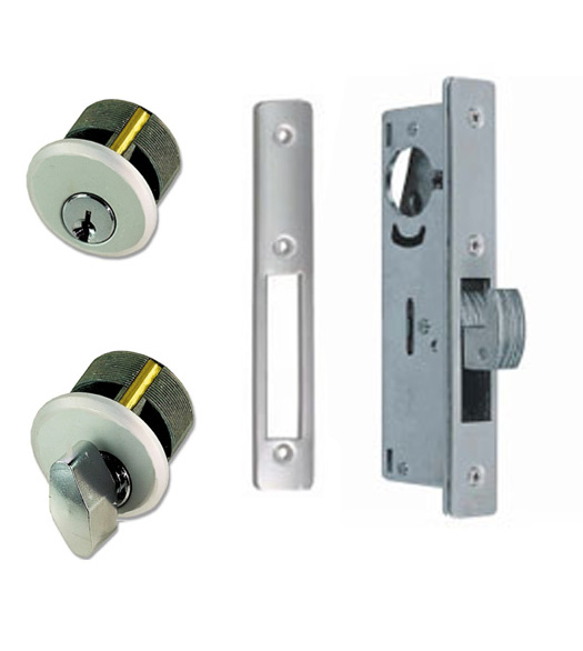 Exceptional Sliding Storefront Door Mortise Deadbolt Lockset, Zinc Cylinders, TH1102 PZ