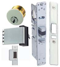 Mortise Deadlatch Conversion Kit with Lock Cylinder, TH1103-PBSC