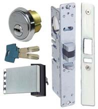 High Security Storefront Door Mortise Deadlatch Lock Sets, Mul-T-Lock Cylinders, TH1103-PM