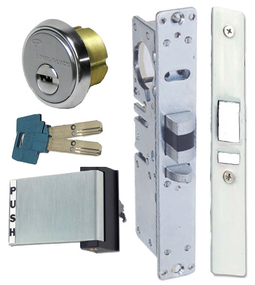 High Security Storefront Door Mortise Deadlatch Lock Sets, Mul-T ...