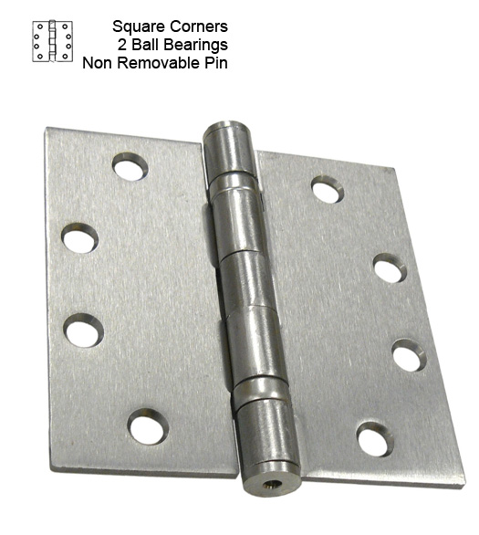 4-1/2 Commercial Door Hinge  sc 1 st  Doorware.com & 4-1/2 x 4-1/2 Commercial Door Hinge 2 Ball Bearings and Non ...