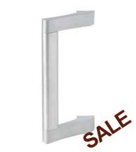 10 Inch Contemporary Commercial Offset Door Pull, Global TH1100-STED-PULL