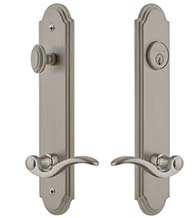 Bellagio Keyed Entry Lever with Arc Tall Plate, Grandeur ARCBEL19ENTR