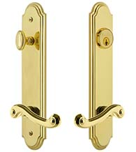 Rope Keyed Entry Lever with Arc Tall Plate, Grandeur ARCNEW19ENTR