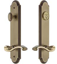 Portofino Keyed Entry Lever with Arc Tall Plate, Grandeur ARCPRT19ENTR