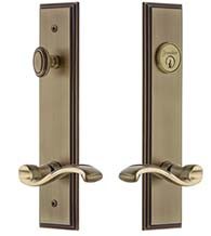 Keyed Entry Portofino Lever with Carre Tall Plate, Grandeur CARPRT19ENTR