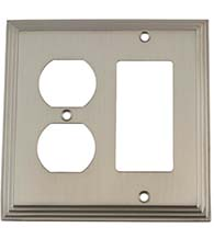 Deco Outlet and Rocker Plate, Grandeur DECSWPLTRD