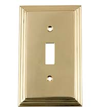 Deco Single Light Switch Cover, Grandeur DECSWPLTT1