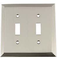 Deco Double Toggle Plate, Grandeur DECSWPLTT2