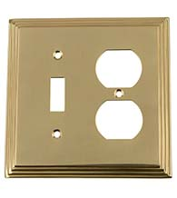 Deco Toggle and Outlet Plate, Grandeur DECSWPLTTD