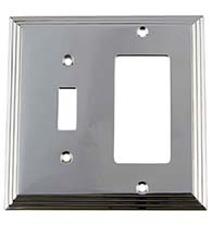 Deco Light Switch and Rocker Plate, Grandeur DECSWPLTTR
