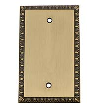 Egg and Dart Blank Switch Plate, Grandeur EADSWPLTB