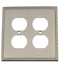 Egg and Dart Double Outlet Plate, Grandeur EADSWPLTD2