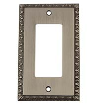 Egg and Dart Rocker Light Switch Plate, Grandeur  EADSWPLTR1
