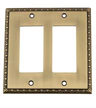Egg and Dart Double Rocker Switch Plate, Grandeur EADSWPLTR2