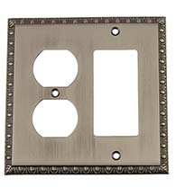 Egg and Dart Outlet and Rocker Switch Plate Cover, Grandeur EADSWPLTRD