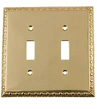 Egg and Dart Double Toggle Switch Plate, Grandeur EADSWPLTT2