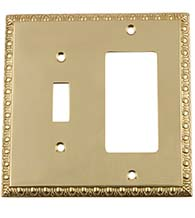 Egg and Dart Rocker and Toggle Switch Plate Cover, Grandeur EADSWPLTTR