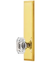Baguette Crystal Knob with Fifth Avenue Plate, Grandeur FAVBCC19