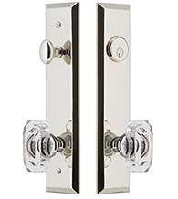 Baguette Crystal Knob with Fifth Avenue Plate Entryset, Grandeur FAVBCC19ENTR