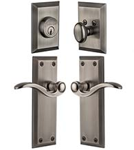 Single Cylinder Fifth Avenue Entry Set With Bellagio Lever, Grandeur FAVBELCOM