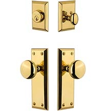 Fifth Avenue Single Cylinder Entry Door Lock Set, Grandeur FAVFAVCOM