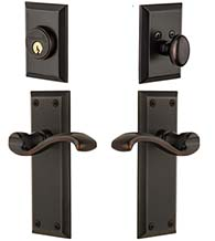 Single Cylinder Fifth Avenue Portofino Lever Entry Set Combo, Grandeur FAVPRTCOM