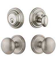 Fifth Avenue Knob and Georgetown Deadbolt Combo Pack, Grandeur GEOFAVCOM