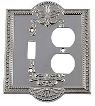 Meadows Outlet with Toggle Light Switch Cover, Grandeur MEASWPLTTD