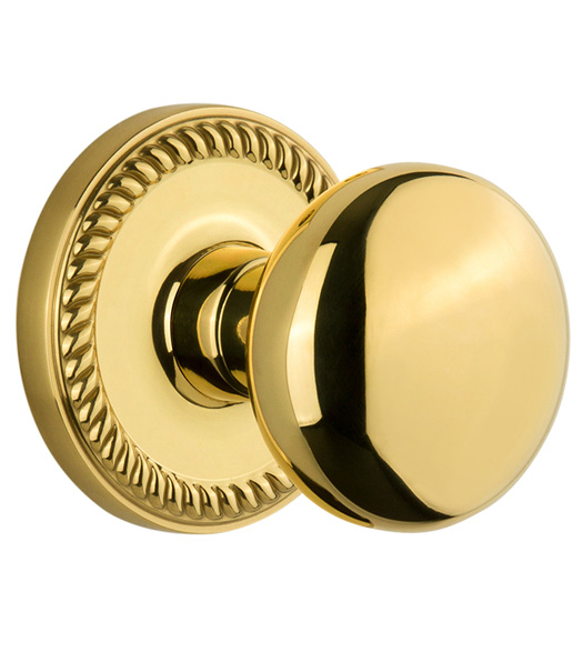 Fifth Avenue Knob with Newport Rose