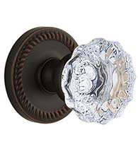 Newport Rosette With Crystal Fontainebleau Knob, Grandeur NEWFON