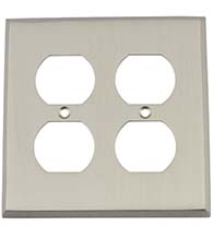 New York Quad Outlet Plate, Grandeur NYKSWPLTD2