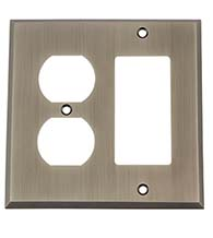 New York Outlet and Rocker Switch Plate, Grandeur NYKSWPLTRD