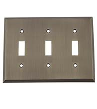 New York Triple Toggle Plate, Grandeur NYKSWPLTT3