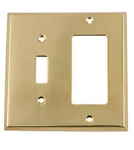 New York Rocker and Toggle Switch Plate, Grandeur NYKSWPLTTR