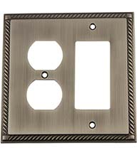 Rope Outlet and Rocker Light Switch Plate, Grandeur ROPSWPLTRD