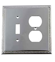Rope Outlet and Toggle Light Switch Plate, Grandeur ROPSWPLTTD