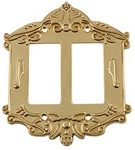 Victorian Double Rocker Switch Plate, Grandeur VICSWPLTR2
